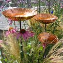 Copper Chalice Garden Bird Bath Sculpture