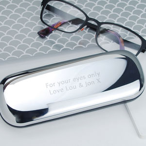 Personalised Chrome Glasses Case