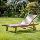 Hardwood Sunlounger With Luxury Cushion Included