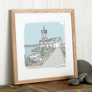 Personalised Wedding Venue Portrait - 100 best wedding prints
