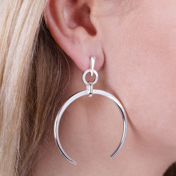 Large Horn Drop Earrings