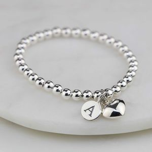 Personalised Children's Silver Heart Bracelet - for children