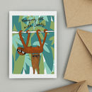 Sloths Hanging Out With Daddy First Father's Day Card
