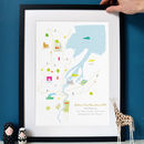 Belfast Marathon Route Map Personalised Print