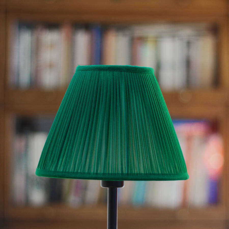 emerald chiffon gathered lampshade by whitehorn ...