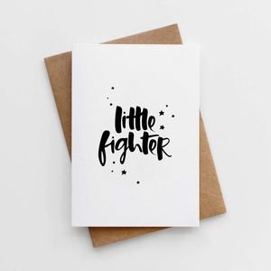 'Little Fighter' Card - get well soon cards