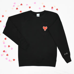 'I Love You' Embroidered Women's Sweatshirt - sweatshirts & hoodies
