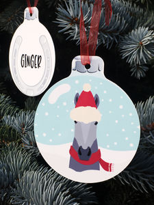 Personalised Horse Hanging Bauble Decoration - personalised