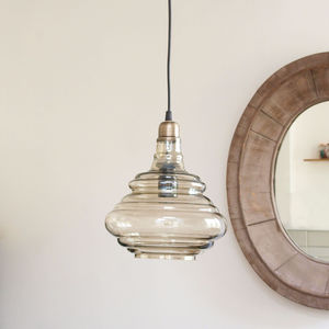 Ornate Glass Pendant Light - ceiling lights