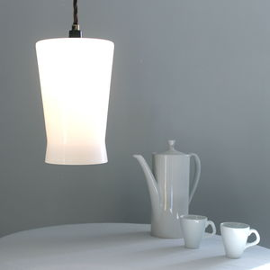 Waisted Flat Top Lampshade - ceiling lights