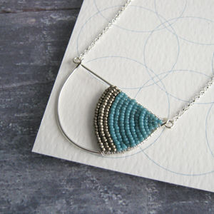 Silver Geometric Arc Necklace - view all new