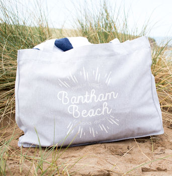 Personalised Favourite Beach Large Tote Bag