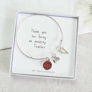 Personalised Teacher Thank You Bangle