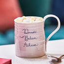Dream Believe Achieve Positive Message Mug