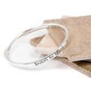 Sisters By Blood Message Bangle