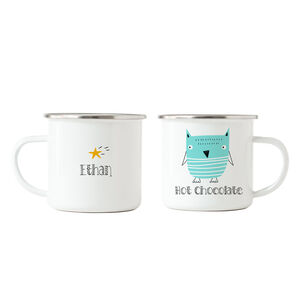 Owl Hot Chocolate Enamel Mug