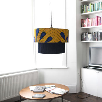 Customised Double Tier African Pattern Lampshade