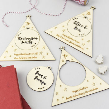 Personalised Pop Out Bauble Christmas Card