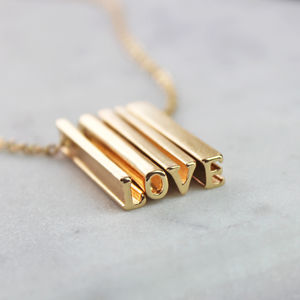 'Love' Hidden Message Necklace