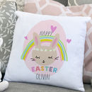Personalised Easter Cushion 'Rainbow Bunny'