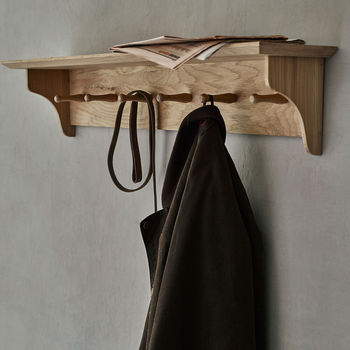 Witham Oak Shelf With Hooks