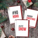 Social Media Hashtag Geeky Christmas Card Six Pack