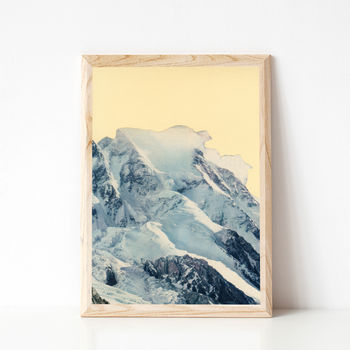 Avalanche Winter Mountain Art Print