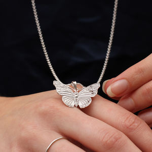 18ct Gold Or Sterling Silver Large Butterfly Necklace