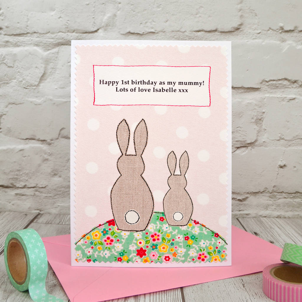 Bunny First Birthday As My Mummy Nana Card