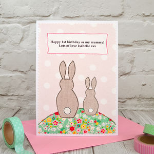 'Bunny' First Birthday As My Mummy / Nana Birthday Card