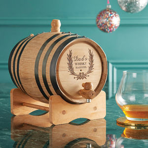 Personalised Whisky Barrel - best gifts for fathers