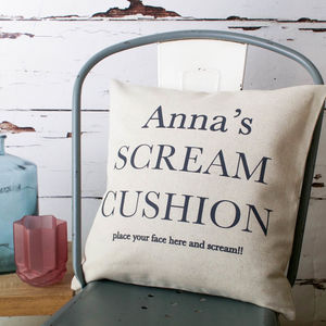 Personalised Scream Cushion Cover - view all sale items