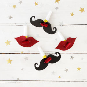 Moustache And Lip Party Blowers - for children