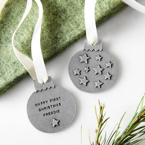 Personalised Mini Starry Sky Bauble - christmas sale