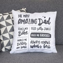 Personalised 'Amazing Dad' Father's Cushion Home Gift