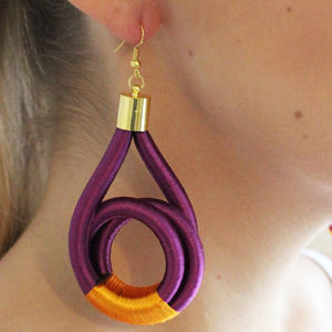 Swirl Purple Handmade Earrings - earrings