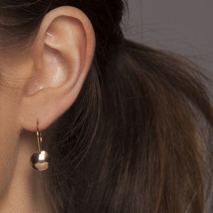 Gold Or Silver Hammered Dome Earrings - earrings