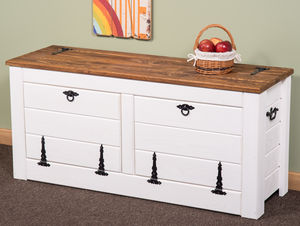 Hallway Storage Bench Shoe Cabinet White 120cm Wide - chests & blanket boxes