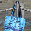 Recycled Shopper Medium Blue Fish Design