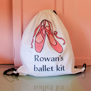 Personalised Ballet Drawstring Bag - storage