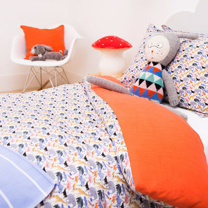 Liberty Print Duvet Cover Queue For The Zoo - bed, bath & table linen