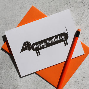 Dog Themed Happy Birthday Card