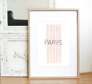 Paris Print - gifts for her