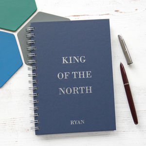 Personalised King Of The North Notebook - notebooks & journals