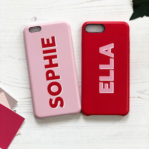 Personalised Dropshadow Leather Phone Case - gifts for teenagers