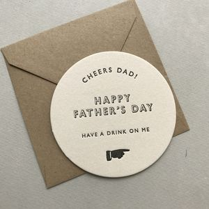 Father's Day Beer Mat Card