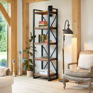 Shoreditch Alcove Four Shelves Bookcase - bookcases