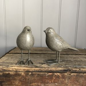 Pair Of Garden Birds - art & decorations