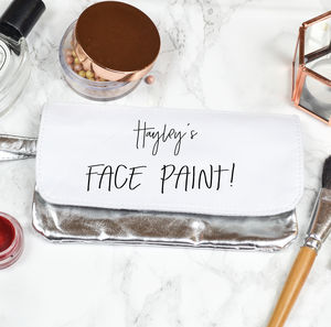 Personalised Make Up Bag 'Face Paint'