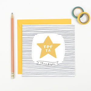 Thank You Teaching Assistant Card - thank you cards